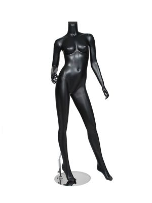 with Base 54H Female Headless White Plastic Mannequin with Straight Arms